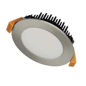 12w DL1280 Satin Chrome Tri-Colour LED Downlight (120 Degree Beam - 900lm)