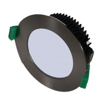 13w DL1640 Satin Chrome LED Downlight (120 Degree Beam - 950lm)