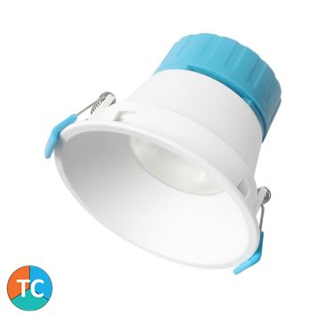 9w Dular Tri-Colour LED Downlight - White (45 Degree Beam - 950lm)