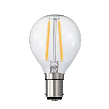 4w P45 Fancy Round LED Filament Lamp - B15 Base