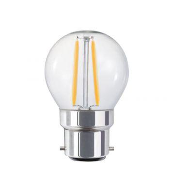 4w P45 Fancy Round LED Filament Lamp - B22 Base