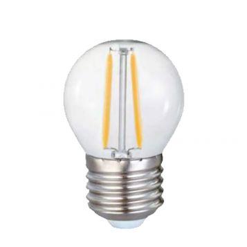4w P45 Fancy Round LED Filament Lamp - E27 Base