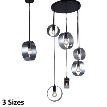 L2-11190 Glass Pendant Light Range - Black