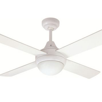 Glendale 1200 Ceiling Fan with Light - White