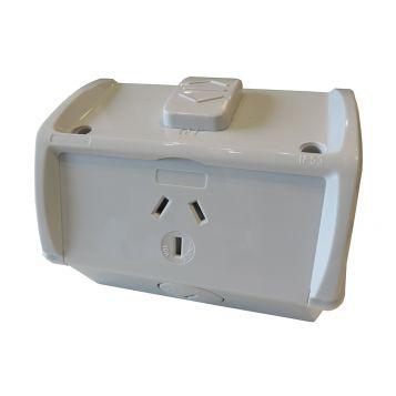 L2U-4933 (IP53) 10A Single Surface Socket