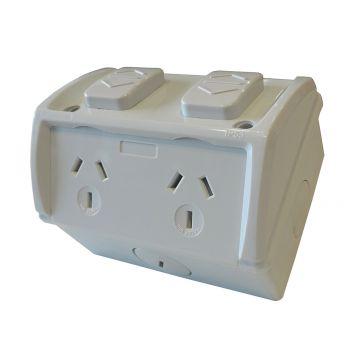 L2U-4934 (IP53) 10A Double Surface Socket