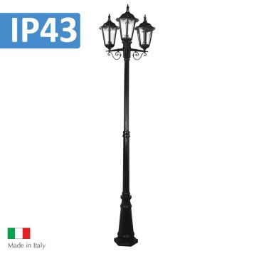 L2U-4334 Chester Traditional Triple Head Post Light
