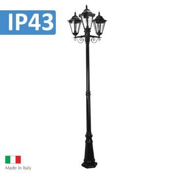 L2U-4374 Turin Traditional Triple Head Post Light