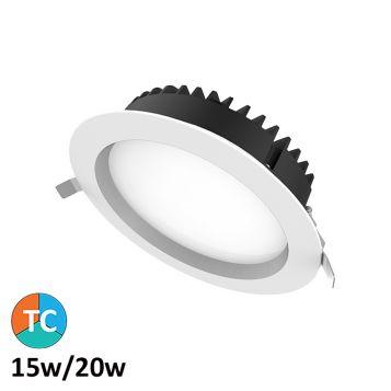 15w/20w Helix Tri-Colour LED Downlight (100 Degree Beam - 2310lm)