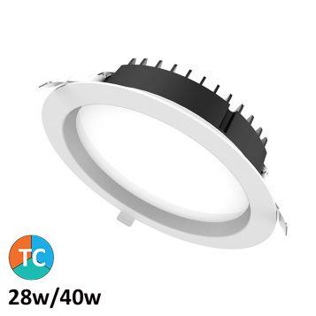 28w/40w Helix Tri-Colour LED Downlight (100 Degree Beam - 4420lm)