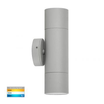L2-761 Silver Up/Down 12v/240v Wall Pillar Light