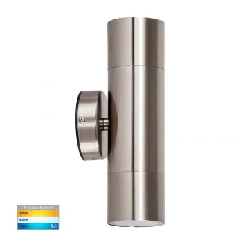 L2U-4625 Stainless Steel Up/Down 240v Wall Pillar Light