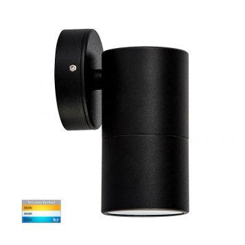 L2-751 Black Fixed Single 12v/240v Wall Pillar Light