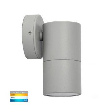 L2-753 Silver Fixed Single 12v/240v Wall Pillar Light