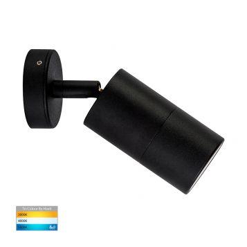 L2-755 Black Single Adjustable 12v/240v Wall Pillar Light