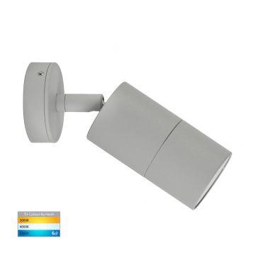 L2-757 Silver Single Adjustable 12v/240v Wall Pillar Light