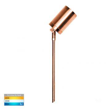 L2U-448 Copper Adjustable LED Garden Spike Light