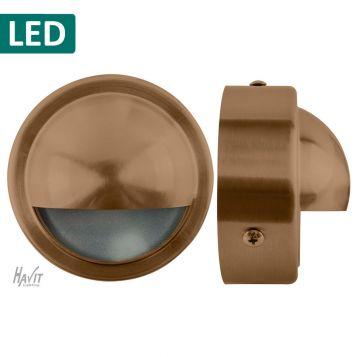 L2U-4644 12v/240v Solid Copper LED Surface Mounted Eyelid Steplight