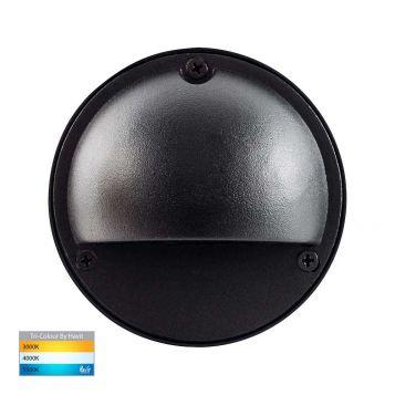 L2U-4646 12v/240v Black LED Surface Mounted Eyelid Steplight