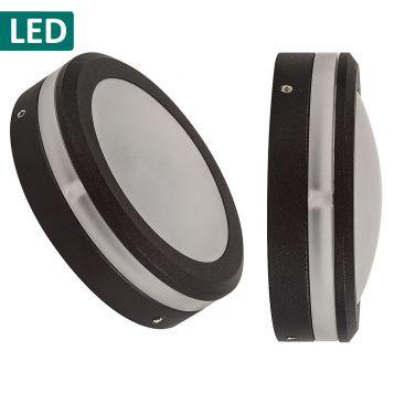 L2U-4656 12v/240v Matt Black LED Surface Mounted Steplight