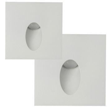 L2U-4670 Square White (IP67) Recessed LED Step Light