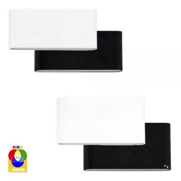 L2U-41144 12v Surface Mounted RGBW LED Wall Light Range