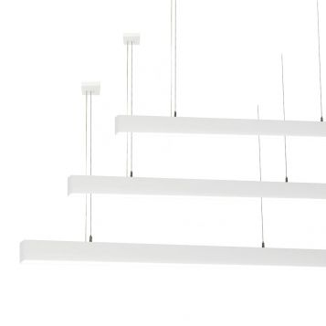 L2-1791 High Output White LED Linear Pendant Light - 60mm x 70mm (1.8m to 3m)