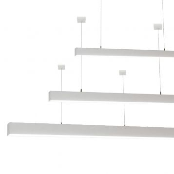 L2-1796 High Output LED Linear Pendant Light - 60mm x 70mm (1.8m to 3m)