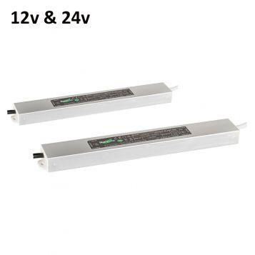 L2U-4740 Slimline 12v & 24v Weatherproof LED Drivers - 2 sizes from