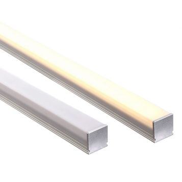 L2U-7231 Square Aluminium Profile with Square Diffuser