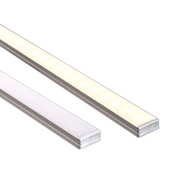 L2U-7218 Shallow Double Square Aluminium Profile