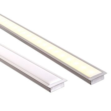 L2U-7239 Shallow Square Winged Aluminium Profile