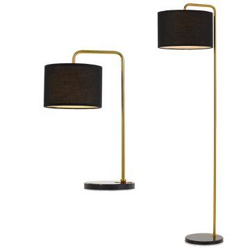 L2-5679 Black/Gold Table & Floor Lamp Range from
