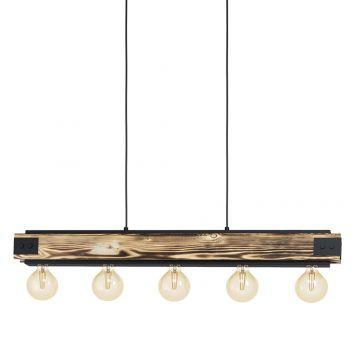 L2-11542 5-Light Black Bar Pendant Light