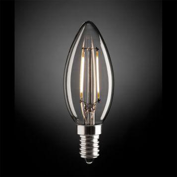 2w Fancy Candle LED Filament Lamp - E14
