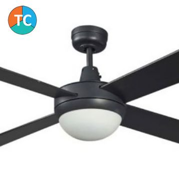 Lifestyle 1300 Ceiling Fan with Tri-Colour LED Light - Black