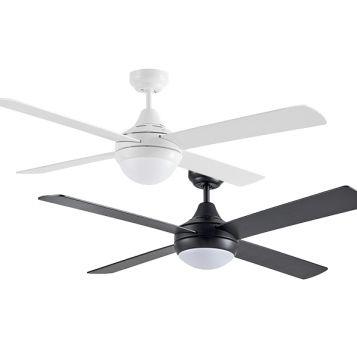 "Link 1220mm (48"") AC 4 Blade Ceiling Fan Range with Twin E27 Light"
