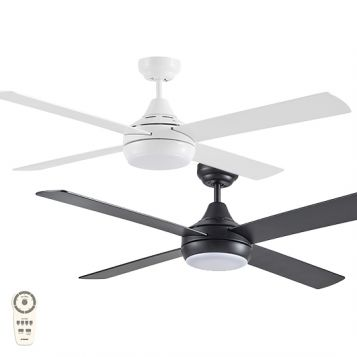 "Link 1220mm (48"") DC ABS 4 Blade Ceiling Fan with LED Light & Remote"