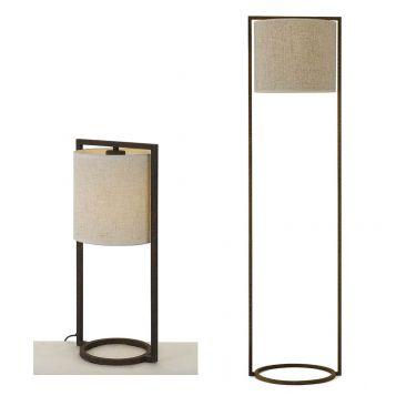 L2-5550 Rust Frame Table & Floor Lamp Range from