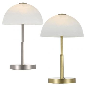 L2-5700 Marble Shade Table Lamp Range with Touch Dimmer Switch