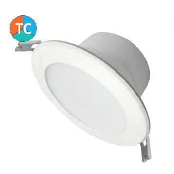 7w Rendezvous Wide Beam Tri-Colour LED Downlight - White (100 Degree Beam - 630lm)