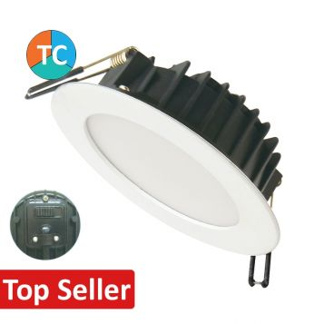 12w Wide Beam Tri-Colour LED Downlight - White (120 Degree Beam - 980lm)