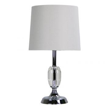 L2-5775 Chrome/Crystal Table Lamp