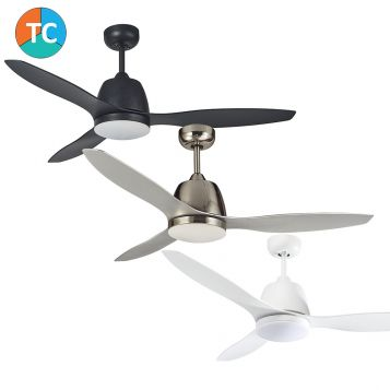 Elite 1200 ABS Blade Ceiling Fan with Tri -Colour LED Light