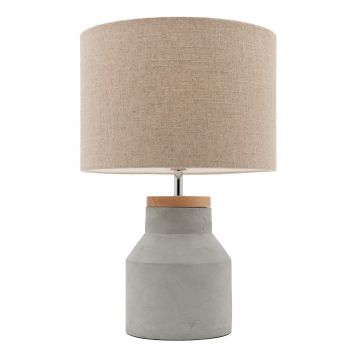 L2-5299 Timber and Concrete Table Lamp