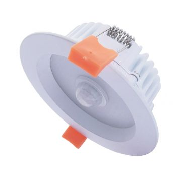 10w Motion White LED Downlight with Sensor (80 Degree Beam - 850lm)