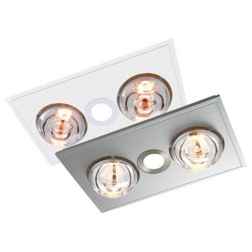 L2U-1106 Myka 3in1 Bathroom LED Downlight, 2 Heat and Exhaust Fan