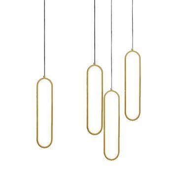 L2-11193 Oval LED Pendant Light Range - Gold