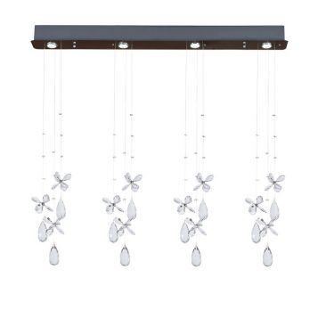 L2-11441 Crystal 4-Light Bar Pendant Light