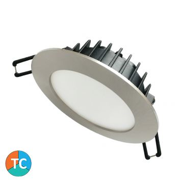 12w 902 Wide Beam Tri-Colour LED Downlight - Brushed Chrome (120 Degree Beam - 980lm)